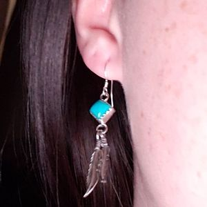 Jewelry - Real authentic Native American turquoise earrings